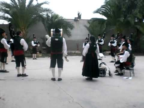 Ensayo banda de gaitas de Villaviciosa en Lorca