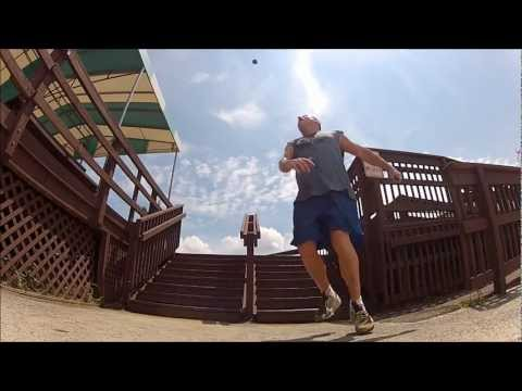 Footbag Stunt On 8 Stairs video