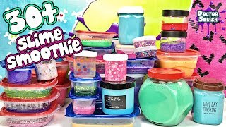 More Than 30 Jars of Slime Mixed In A Smoothie!
