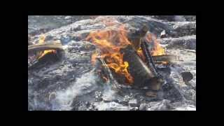 Burning Rock. Experiments with fire setting (without music)