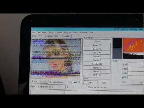 Icom IC R 8500 on SSTV