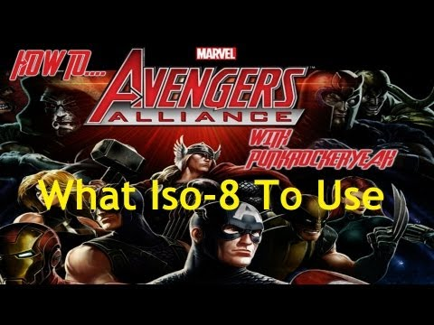 Marvel Avengers Alliance - How To - What Iso-8 To Use