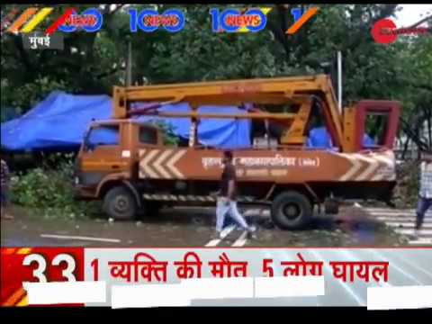 News 100: Heavy rains lash Mumbai, results in water-logging and traffic jams