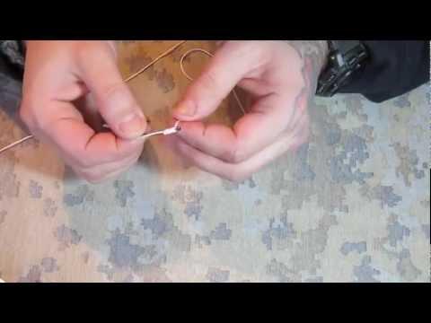 Видео как правильно завязывать крючки