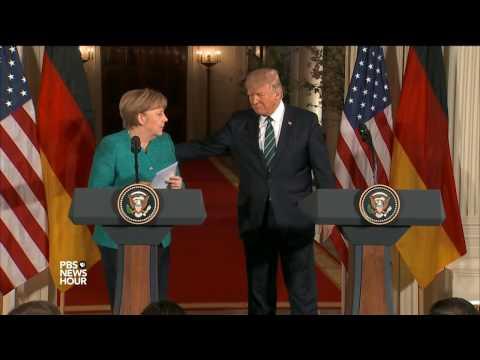 First Trump-Merkel meeting reflects different views, styles