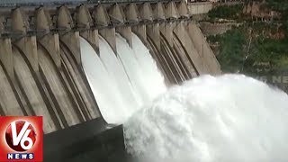 Irrigation Dept Officials Opens Srisailam Gates As Heavy Inflows Hits Dam