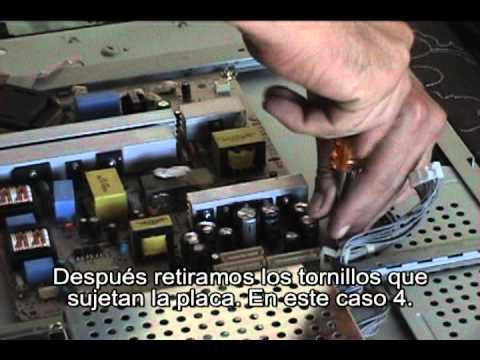Como reparar / arreglar una TV de LCD.