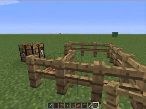 3. Como hacer Vallas y puertas de vallas en Minecraft.