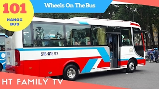 101 Xe Ô tô Buýt Hà Nội ► Wheels On The Bus Go Round And Round - Super Simple Song HT BabyTV ✔