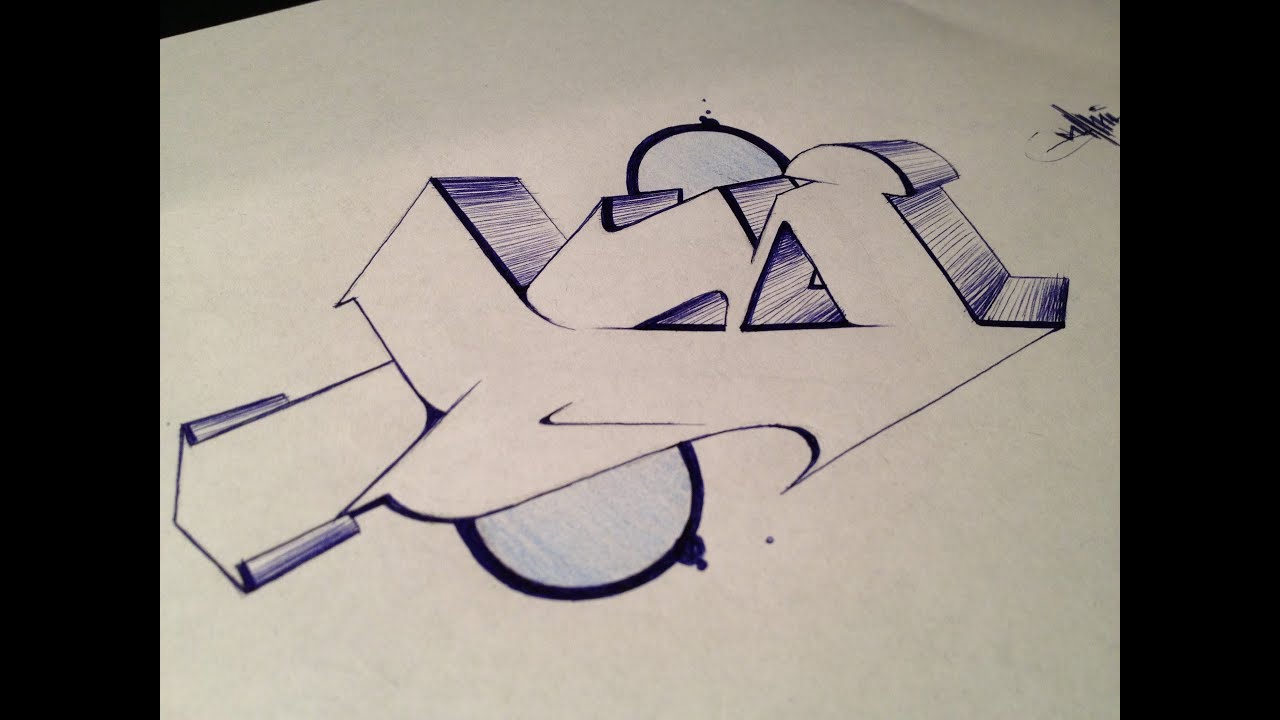 graffiti alphabet tutorial - letter b