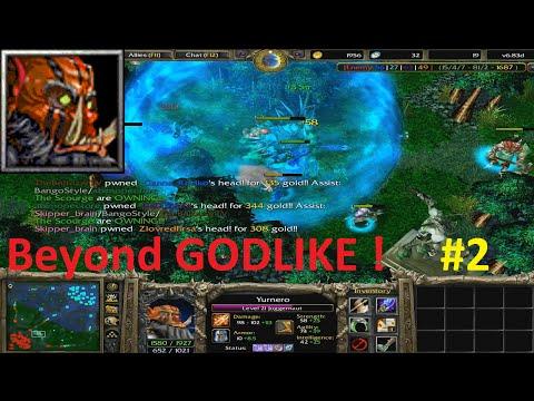 DotA 6.83d - Juggernaut, Yurnero Beyond GODLIKE ! #2