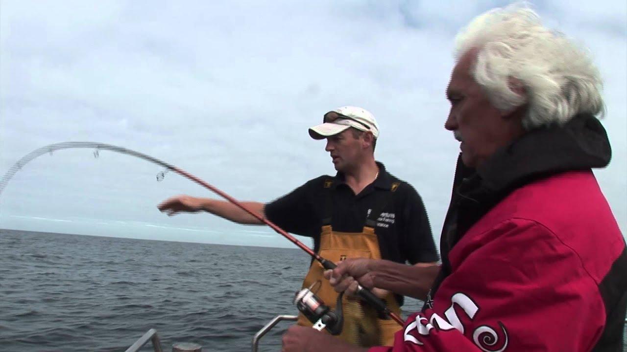 Shark fishing with okuma spinning rod youtube for Shark fishing rod