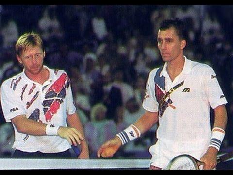 Ivan Lendl boom-booms Boris Becker