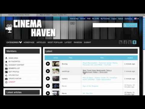 User tools - Cinema Haven 2 click submitter bookmarklet