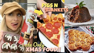 I ONLY ate CHRISTMAS foods for 24hours!!