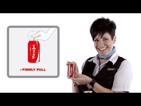 WestJet & Coca-Cola: #shareacokecanada inflight safety video