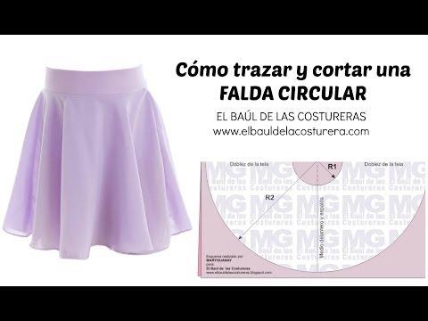 Trazado de la Falda Circunferencia completa, Acampanada o Plato