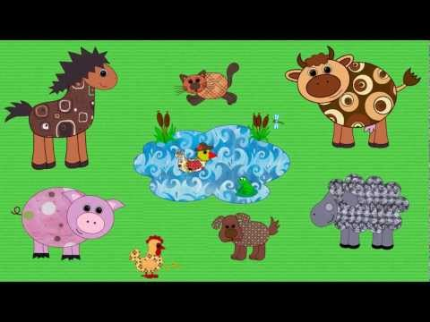 Farm Animals Song For Kids | English For Children video