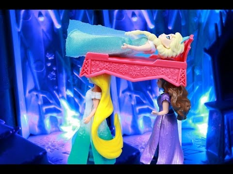 Princess Belle Kicks OUT Frozen ELSA Magical Lights Palace Belle Anna Cinderella Rapunzel