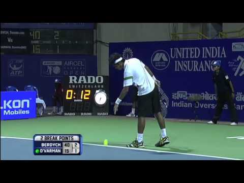 ACO 2013 - Day 4 Match 2 Highlights Tomas Berdych (CZE) vs Somdev Devvarman (IND)