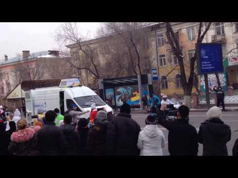 Универсиада 2017 в Алматы, Казахстан. Эстафета передачи огня.