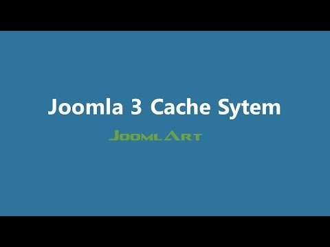 Joomla 3 Video tutorials - Joomla Cache system