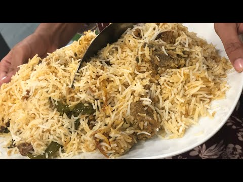 How to make Mutton biryani/Hyderabadi style/Lamb dum ki Biryani (in pressure cooker)