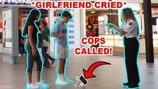 SMASHING MY GIRLFRIENDS IPHONE 11 IN PUBLIC PRANK!