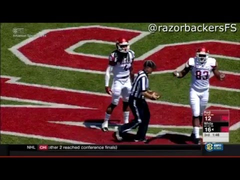 Arkansas Spring Football Red and White Game 2016 Highlights