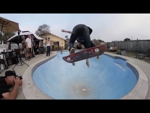INSTABLAST! - BS Heelflip Late Bigspin 3 Block!! No Leg NoseGrind!! Backyard Pool Ripping!