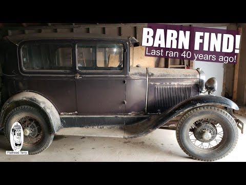 Ford Model A 1930 Episode 1 BARN FIND! 40+ Years. Will it Run? #withme #barnfind #modelaford