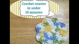 Crochet coaster in under 10 minutes
