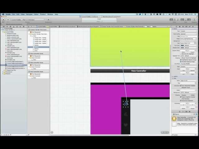 iOS 5: Custom Tabbar, using Storyboards and Custom Segue