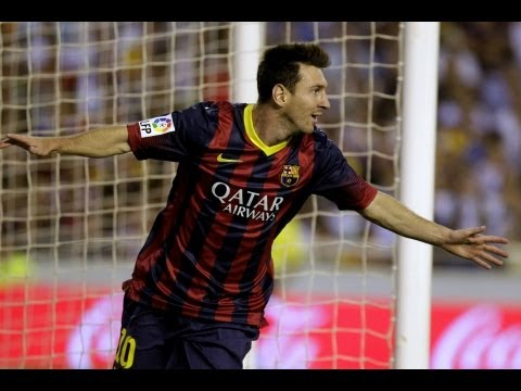 Valencia  vs Barcelona  (2-3) All Goals & Highlights 01.09.2013  Lionel Messi Show