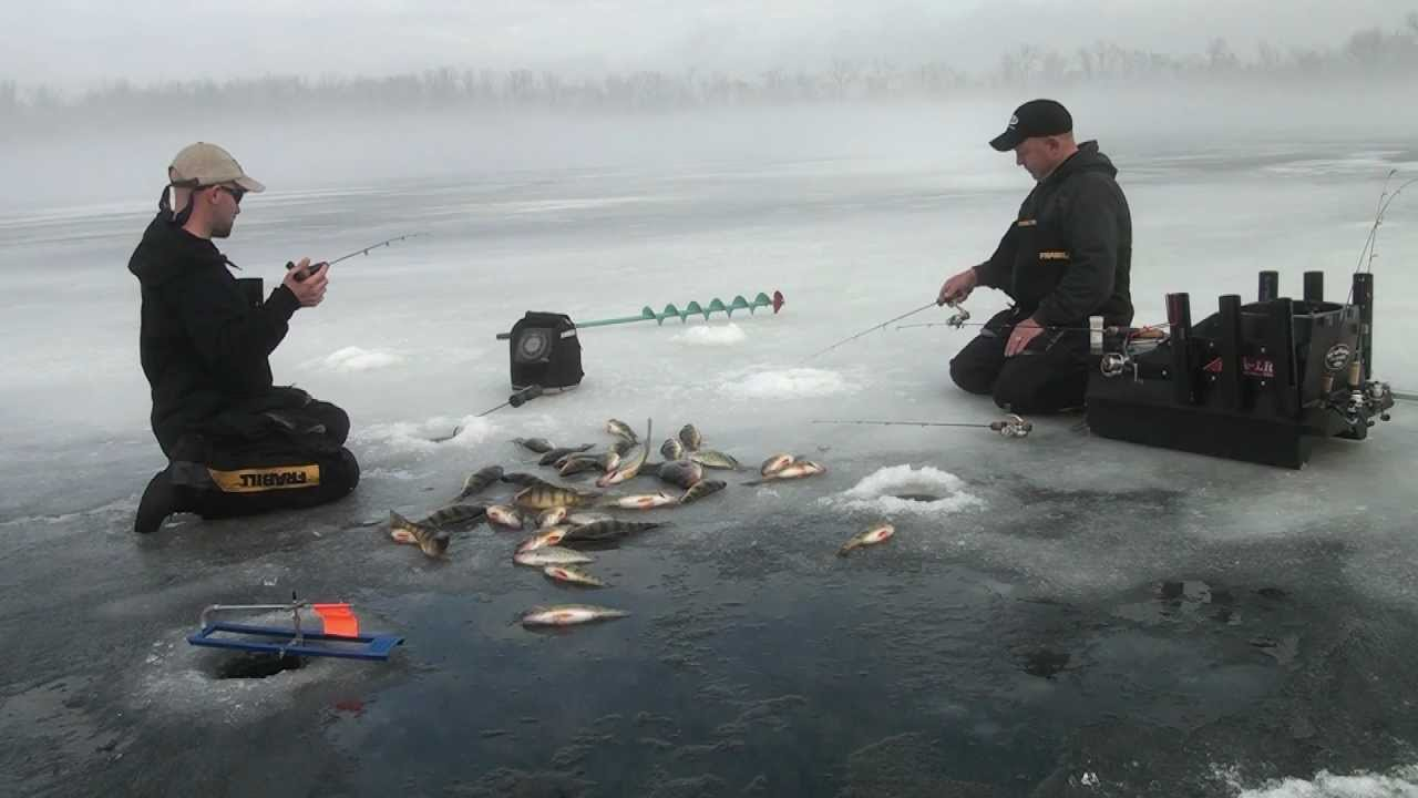 Ice fishing crappie and perch slam youtube for Wisconsin out of state fishing license