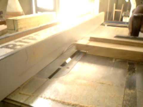 Banco de sierra para cortar madera