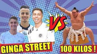 GINGA STREET DESAFIOU UM GORDÃO DE 100 KILOS !