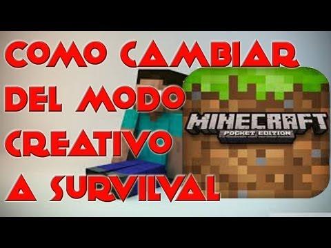 Como pasar Del Modo Creativo Al Survival En Minecraft PE (Android)