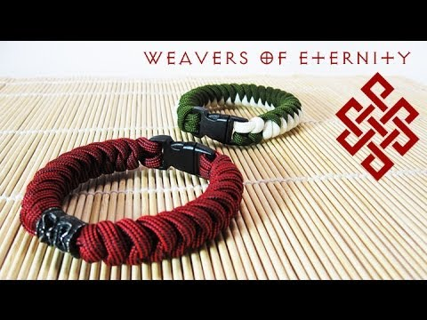 How to Tie a Snake Knot Bracelet with Buckles Tutorial