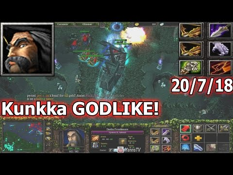 DotA Kunkka Gameplay - Нервы на пределе! (ULTRA KILL)