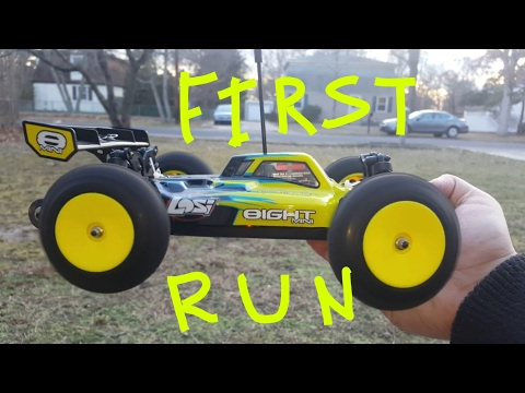 Losi Mini 8ight First Run 2s And 3s stock gearing 1/14 RC buggy 2017