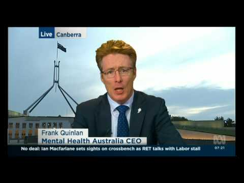CEO Frank Quinlan on ABC News Breakfast discussing cuts to crucial services amid funding uncertainty
