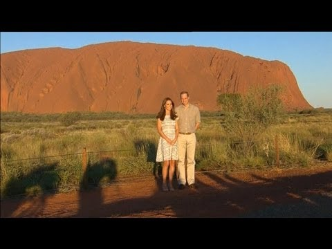 Kate And William Visit Uluru video