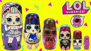 LOL Surprise Under Wraps Nesting Dolls 80s BB, Pop Heart, Thrilla Toy Surprises