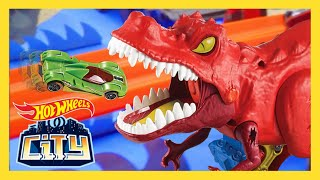 T-REX RESCUE MISSION! | Hot Wheels City | Hot Wheels