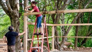Husband & Wife Build Post & Beam Firewood Shed they Ordered OFF the INTERNET