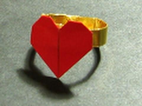 Кольцо с сердечком для любимой