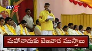 మహానాడుకు ముస్తాబవుతున్న బెజవాడ | Huge Arrangements For TDP Mahanadu In Vijayawada