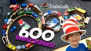 600 SUBSCRIBERS! Thank you so much everyone for supporting Train Lab!   Trains toys videos for kids