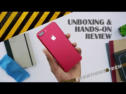 Apple i Phone 7 Red Full Unboxing and Hands On Review